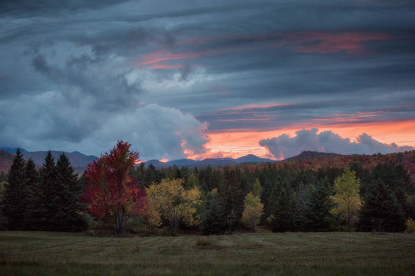 Photograph - Adirondack Loj Road Sunset by Brad Wenskoski