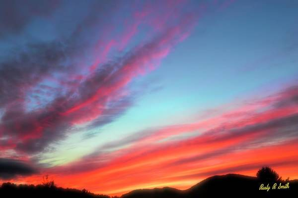 Digital Art - Adirondack Sunset by Rusty R Smith