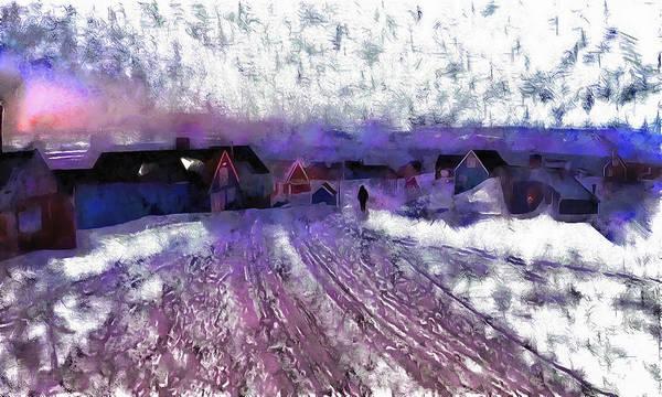Digital Art - Adistant Greenland Village by Mario Carini