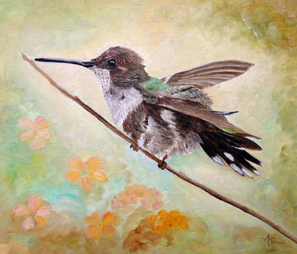 Painting - Adjusting The Flaps by Angeles M Pomata