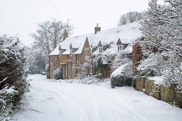 Wall Art - Photograph - Adlestrop Village In The Winter Snow by Tim Gainey