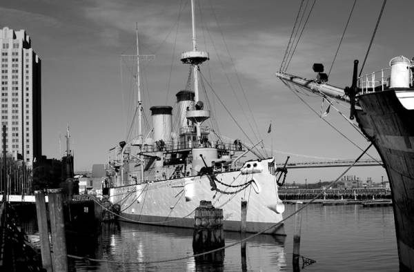 Uss Arizona Wall Art - Photograph - Admiral Dewey's Flagship, Monochrome  by Gordon Beck