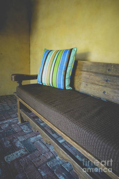 Wall Art - Photograph - Adobe Casita Bench by Edward Fielding