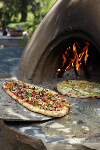 Pizza Photograph - Adobe Grilled Flatbread Pizza by James Baigrie