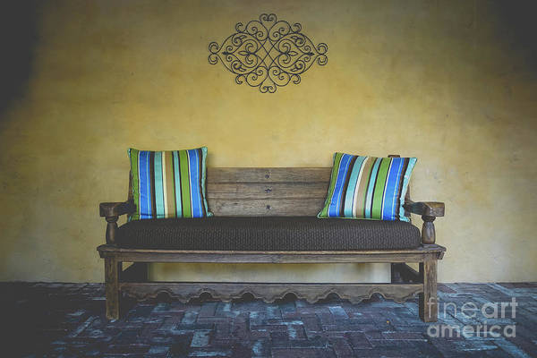 Wall Art - Photograph - Adobe Home Bench by Edward Fielding