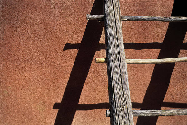 Navajo Indian Reservation Photograph - Adobe Wooden Ladder by Akajeff