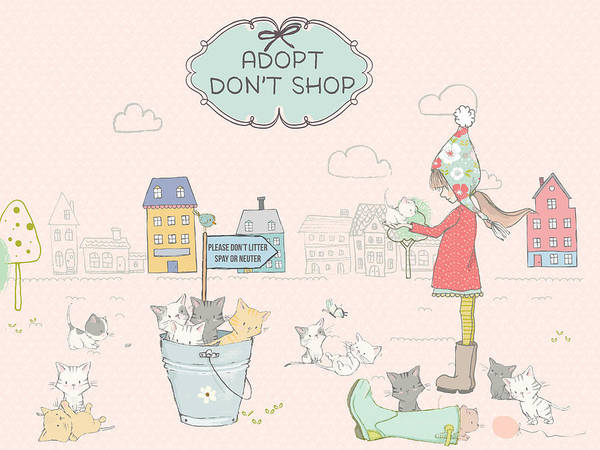 Digital Art - Adopt - Don't Shop by Ruth Moratz