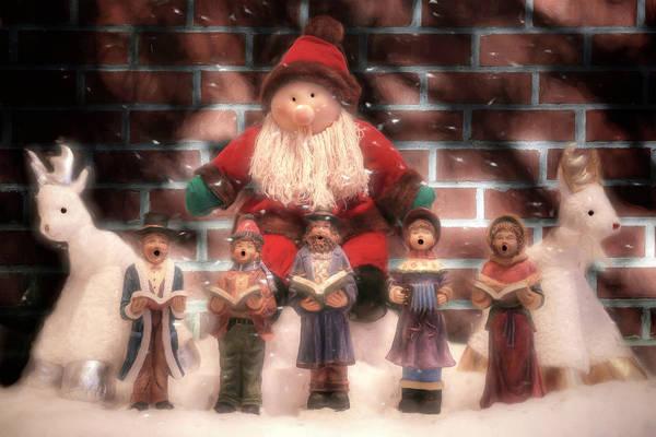 Carol Singing Photograph - Adopted Santa by Donna Kennedy
