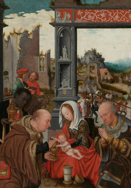 Wall Art - Painting - Adoration Of The Magi by Jan Mostaert