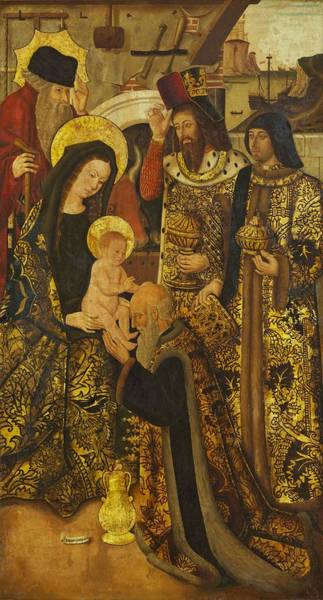 Wall Art - Painting - Adoration Of The Magi  by Juan Pons