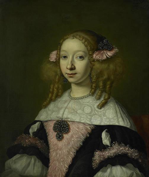 Painting - Adriana Jacobusdr Hinlopen by Lodewijk van der Helst