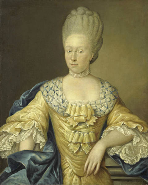Painting - Adriana Johanna Van Heusden. Wife Of Johan Arnold Zoutman by August Christian Hauck