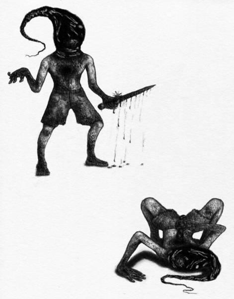 Drawing - Adriano The Darkstalker - Artwork by Ryan Nieves