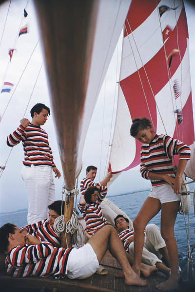 Enjoyment Photograph - Adriatic Sailors by Slim Aarons