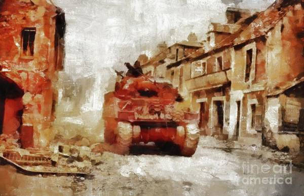 Wall Art - Painting - Advance Through Normandy, Wwii by Mary Bassett