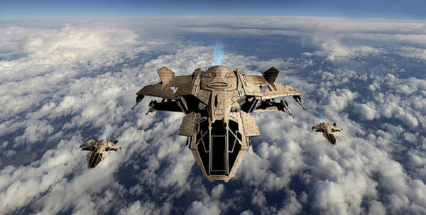 Digital Art -  Advanced Aircraft by Marc Ward