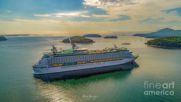 Photograph - Adventure Of The Seas, Bar Harbor  by Michael Hughes