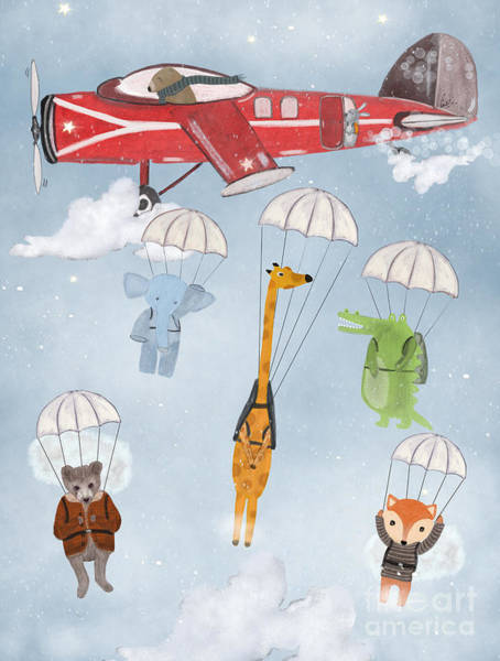 Adventure Skies Art Print by Bri Buckley