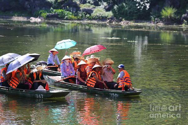 Wall Art - Photograph - Adventure Tam Coc Ninh Binh Vietnam  by Chuck Kuhn