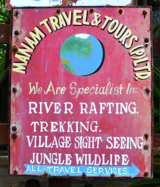 Wall Art - Photograph - Adventure Travel Sign by David Lee Thompson