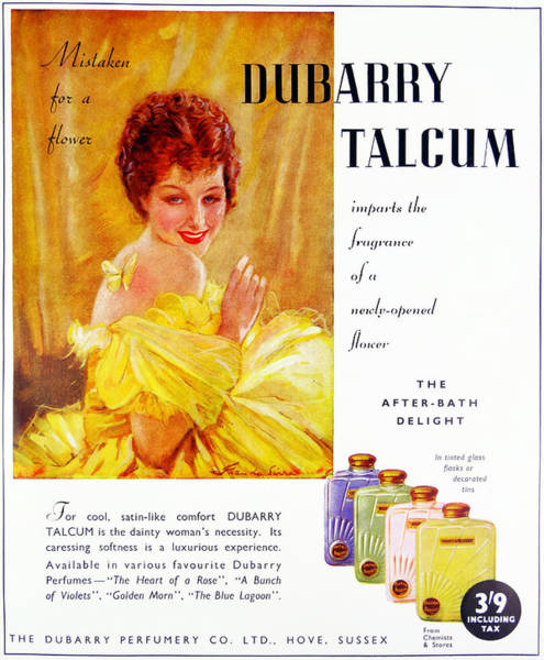 Wall Art - Photograph - Advert For Dubarry Talcum Powder by Uig