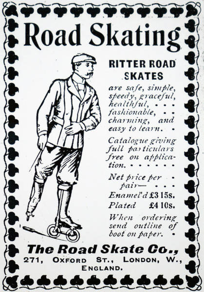 Wall Art - Photograph - Advertisement For Ritter S Road Skates by Uig