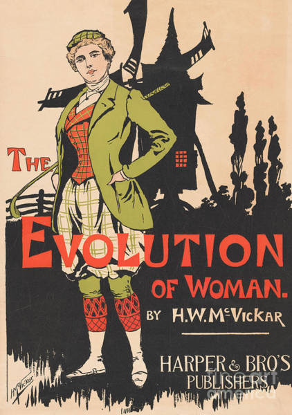 Wall Art - Painting - Advertising For The Evolution Of Woman By Harry Whitney Mcvickar, 1896  by Anonymous