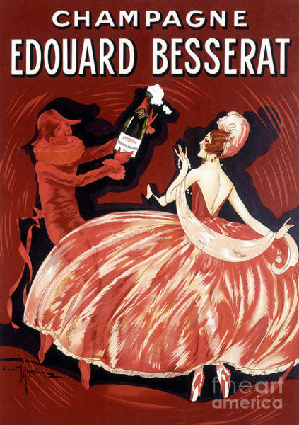 Wall Art - Painting - Advertising Poster For Champagne Edouard Besserat, Late 19th Century by French School
