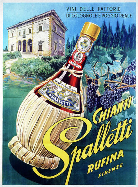Italian Wine Photograph - Advertising Poster Of Spalletti Chianti by Alinari Archives