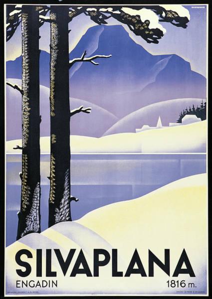 Painting - Advertising Poster Silvaplana, By by Mondadori Portfolio