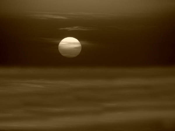 Photograph - Aegean Sunset In Sepia by Micki Findlay