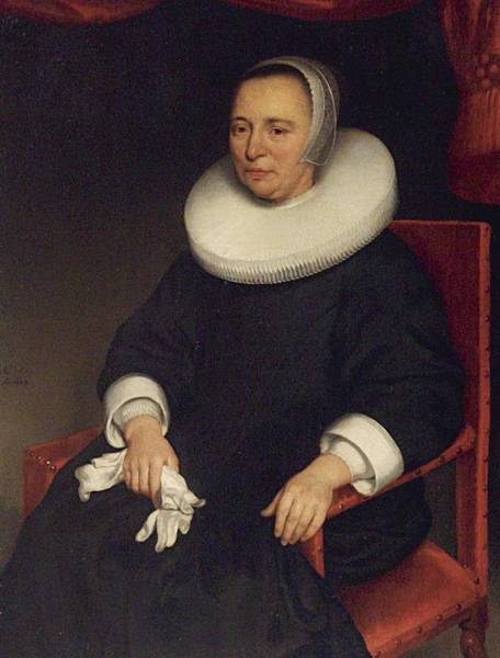 Wall Art - Painting - Aelbert Cuyp Portrait Of Lady, Seated Three-quarter Length, Wearing A Black Dress With A White Ruff by Celestial Images