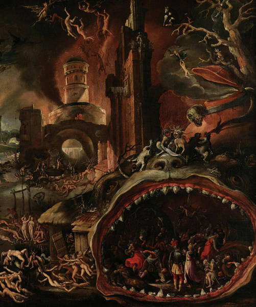 Wall Art - Painting - Aeneas Taken By The Sibyl To The Underworld, 1600 by Jacob Isaacszoon van Swanenburg