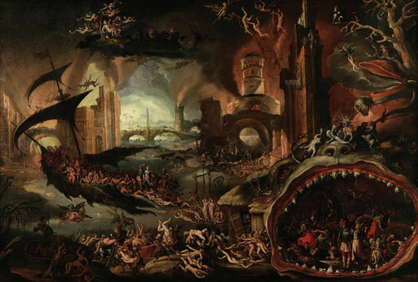 Wall Art - Painting - Aeneas Taken By The Sibyl To The Underworld by Jacob Isaacszoon van Swanenburg