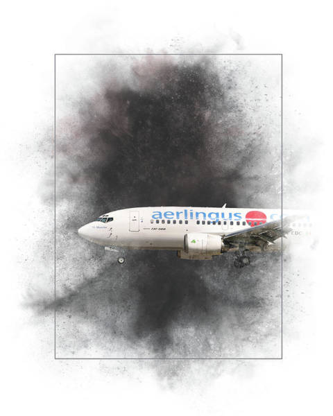 Wall Art - Mixed Media - Aer Lingus Boeing 737-500 Painting by Smart Aviation