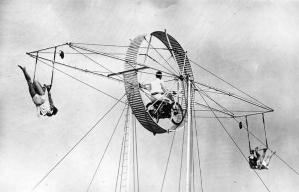 Trapeze Photograph - Aerial Act by J Wilds