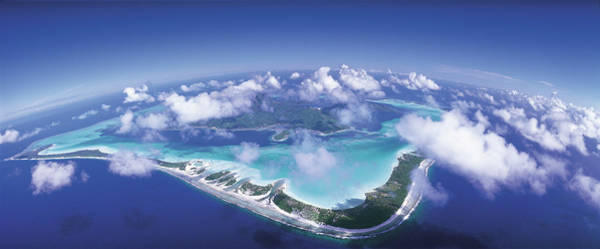 Wall Art - Photograph - Aerial Bora Bora French Polynesia by Panoramic Images