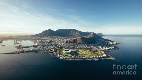 Featured Wall Art - Photograph - Aerial Coastal View Of Cape Town. View by Jacob Lund