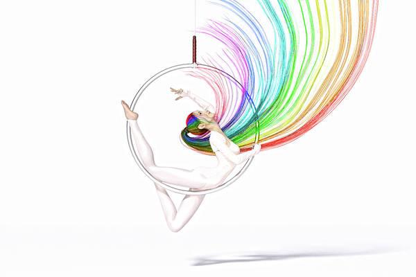 Wall Art - Digital Art -  Aerial Hoop Dance The Enchanting Spirit by Betsy Knapp