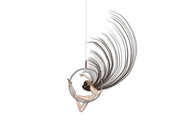 Wall Art - Digital Art - Aerial Hoop Dancing Freedom by Betsy Knapp