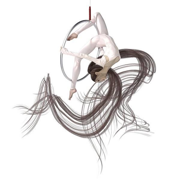 Wall Art - Digital Art - Aerial Hoop Dancing Hanging In The Balance by Betsy Knapp