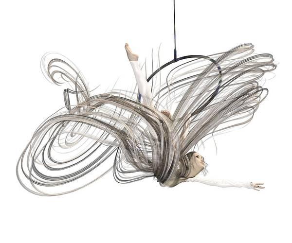 Wall Art - Digital Art - Aerial Hoop Dancing I Am Flight by Betsy Knapp