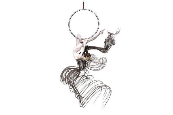 Wall Art - Digital Art - Aerial Hoop Dancing I Am Me by Betsy Knapp