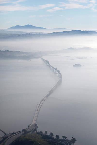 Mt. Diablo Wall Art - Photograph - Aerial Landscape Of Richmond-san Rafael by Diane Miller