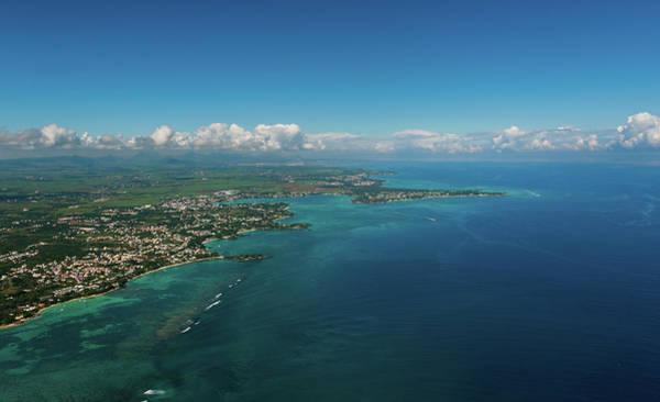 Photograph - Aerial Mauritius 001 by Karl Ahnee
