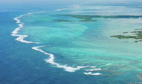 Photograph - Aerial Mauritius 008 by Karl Ahnee