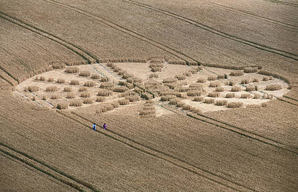 Photograph - Aerial Of Crop Circle by Holger Leue