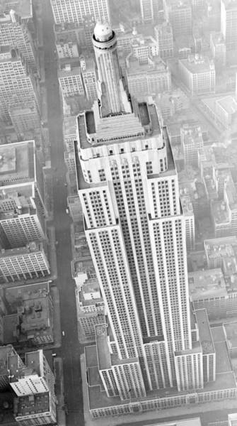 Aerial Of Empire State Building Photograph By New York Daily News