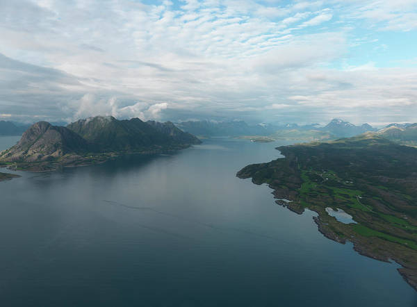 Aerial View Digital Art - Aerial Of Lofoten Islands by Erika Tirén/magic Air