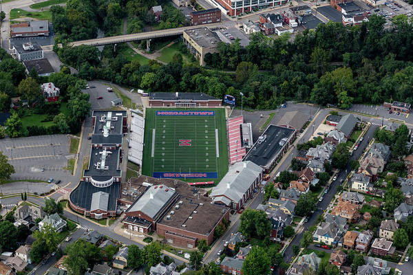 Photograph - Aerial Of Mhs Football Field by Dan Friend